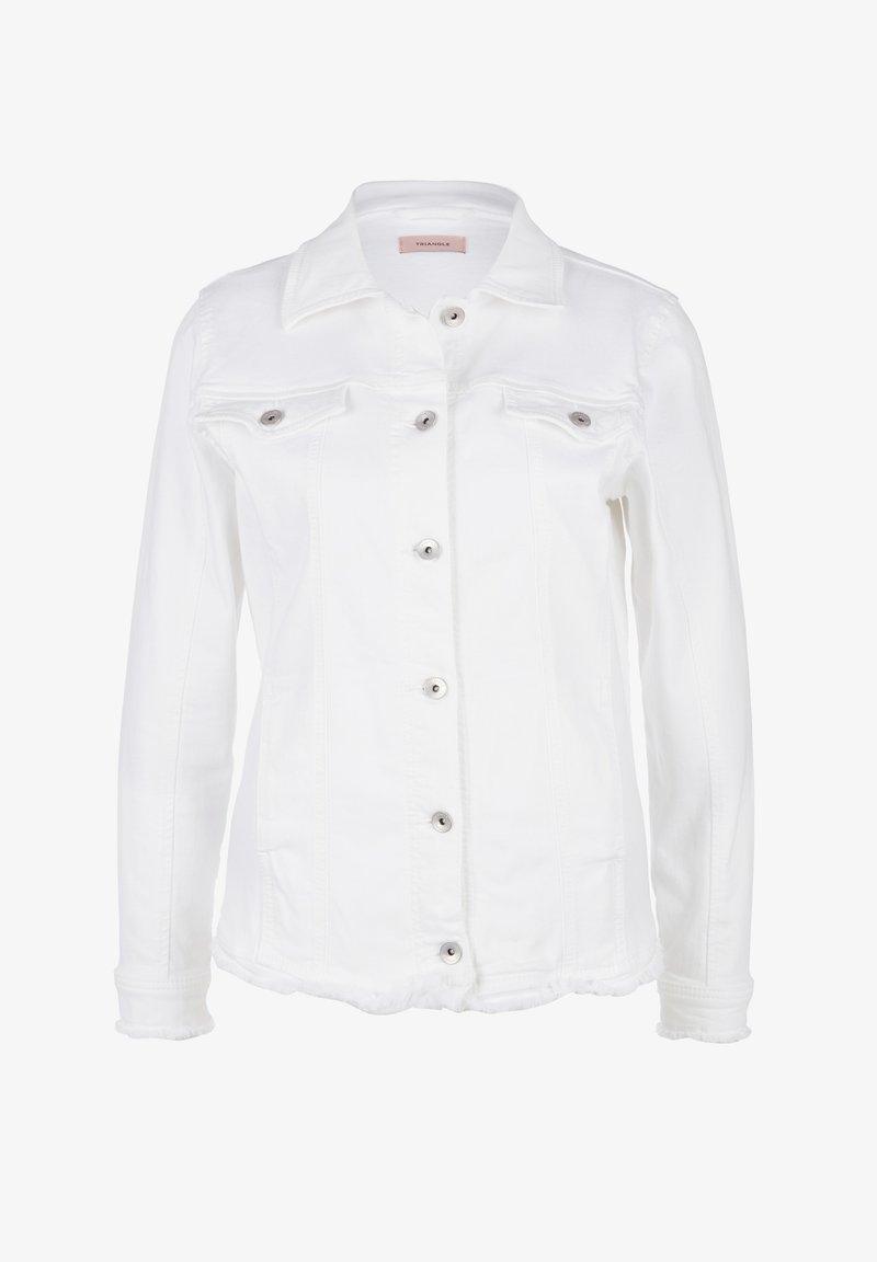 Triangle - MIT FRANSENSAUM - Denim jacket - white