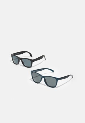 NMMDOSSUNGLASSES UNISEX 2 PACK - Sunglasses - aegean blue/black