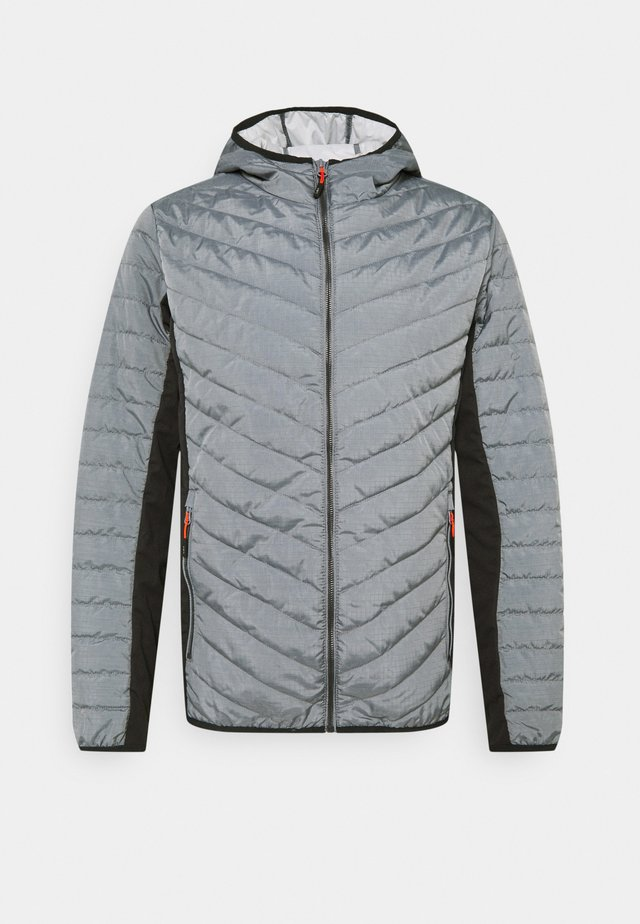 MAN FIX HOOD JACKET - Giacca outdoor - cemento