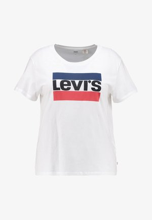 PL THE PERFECT TEE - T-shirt med print - white