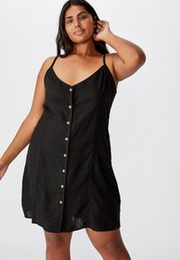 Cotton On Curve - CURVE MAISE STRAPPY - Day dress - black - 2