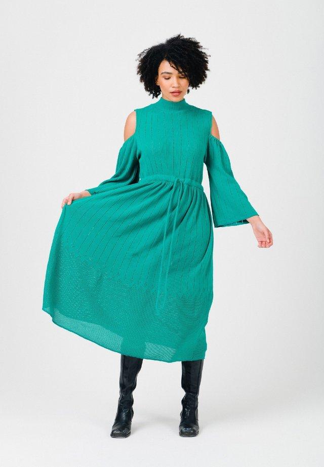 Gebreide jurk - ultramarine green