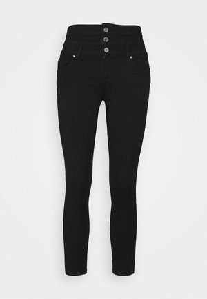 ONLROYAL LIFE CORSAGE PIM - Jeans Skinny Fit - black denim