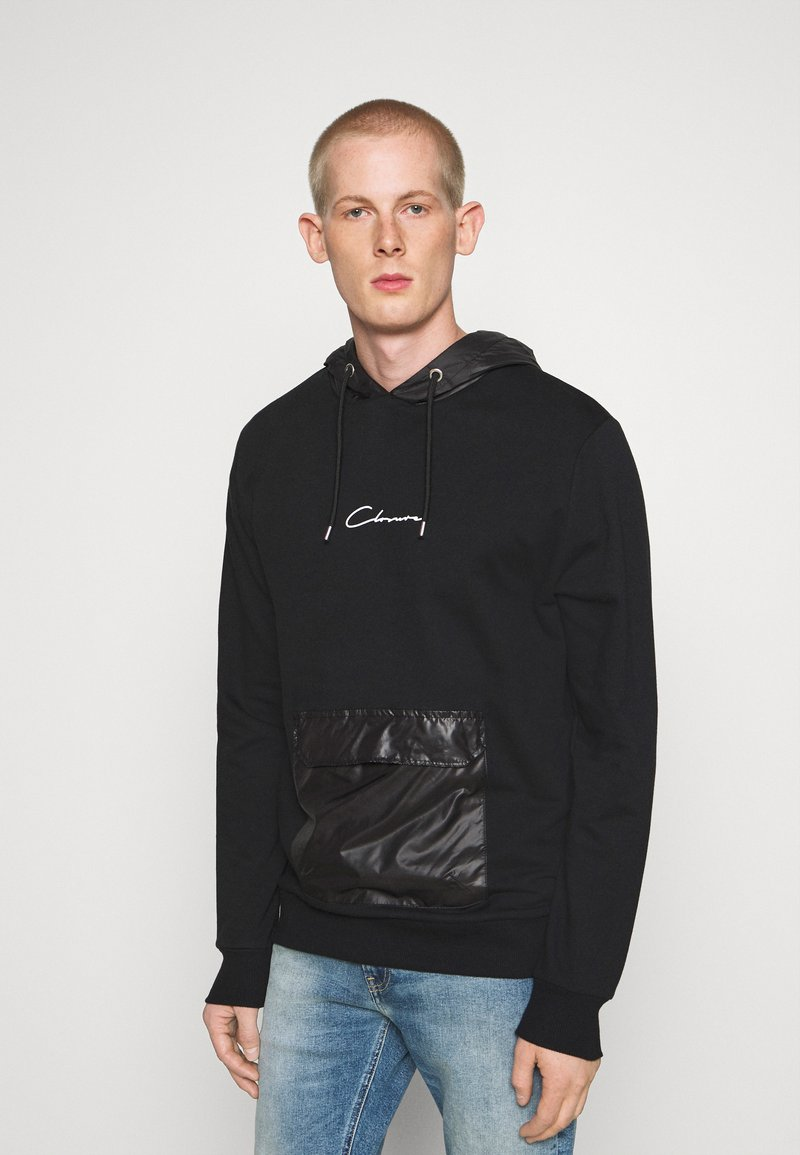 CLOSURE London - CONTRAST UTILITY HOODY - Sweat à capuche - black