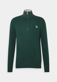 PS Paul Smith - MENS ZIP NECK ZEBRA - Jumper - green - 3