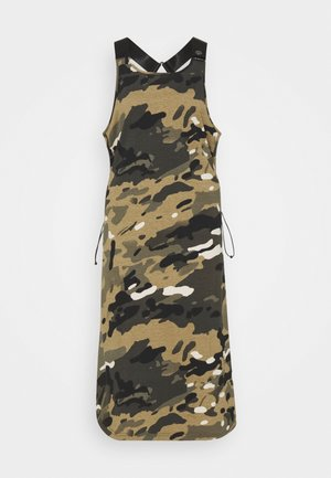 A-LINE DUNGAREE CAMO AO DRESS - Žerzejové šaty - whitebait multi camo
