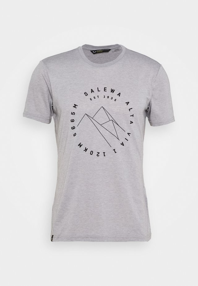 ALTA VIA DRY TEE - T-shirt z nadrukiem - heather grey