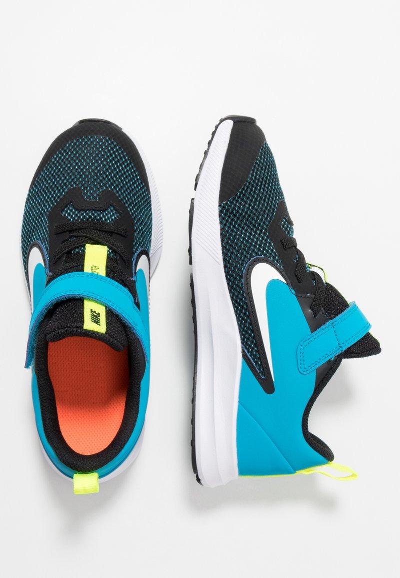 Nike Performance - DOWNSHIFTER 9  - Scarpe running neutre - black/white/laser blue/lemon