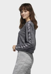 adidas Performance - Sweatshirt - dark grey heather/white - 3
