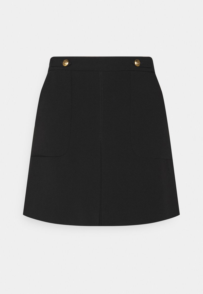 Banana Republic - FRONT PLEAT SOLID - A-line skirt - black