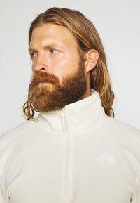 The North Face - MENS GLACIER 1/4 ZIP - Fleece jumper - vintage white - 3