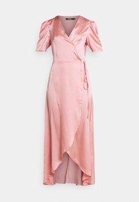 Missguided - HIGH LOW PUFF MIDI DRESS  - Maxi dress - blush - 3