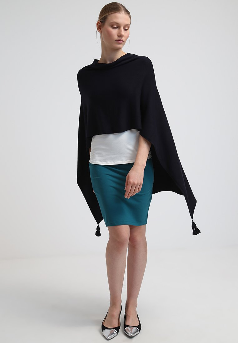comma - PONCHO - Cape - dark blue