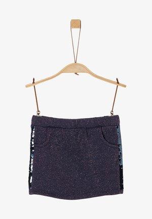 Mini skirt - dark blue melange
