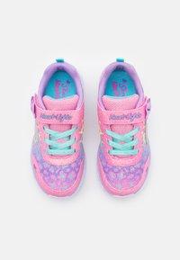 Skechers - HEART LIGHTS - Tenisky - hot pink /lavender/aqua - 3
