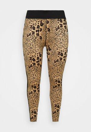 BOCA LEOPARD TIGHT CURVE - Leggings - brown/black