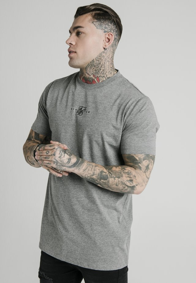 SQUARE HEM TEE - T-paita - grey