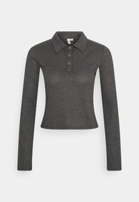 Nly by Nelly - BUTTON UP COLLAR - Polo shirt - offblack - 0
