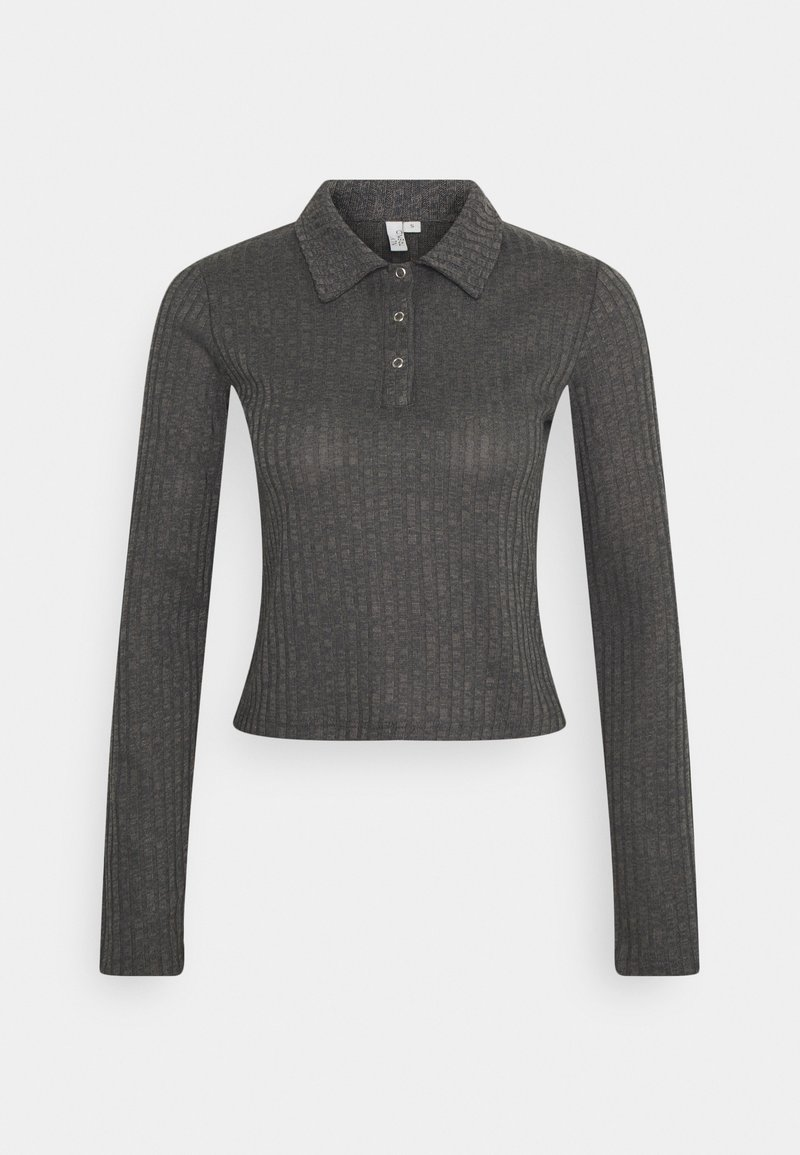 Nly by Nelly - BUTTON UP COLLAR - Polo shirt - offblack