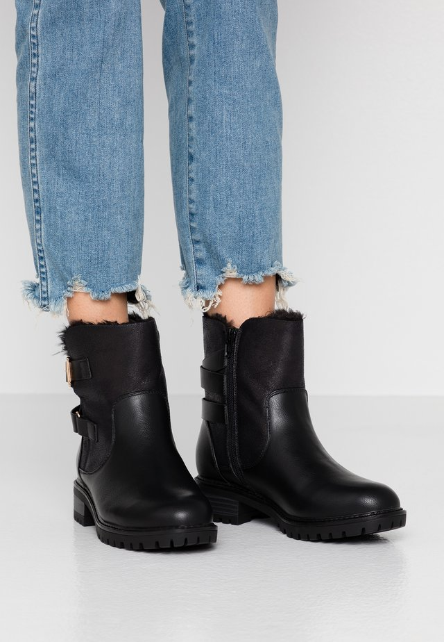WIDE FIT ALOHA BACK BUCKLE - Classic ankle boots - black