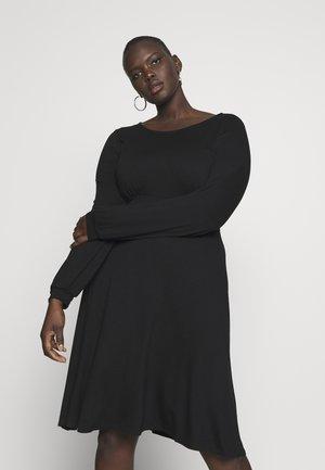 EMPIRE DRESS - Jerseyklänning - black