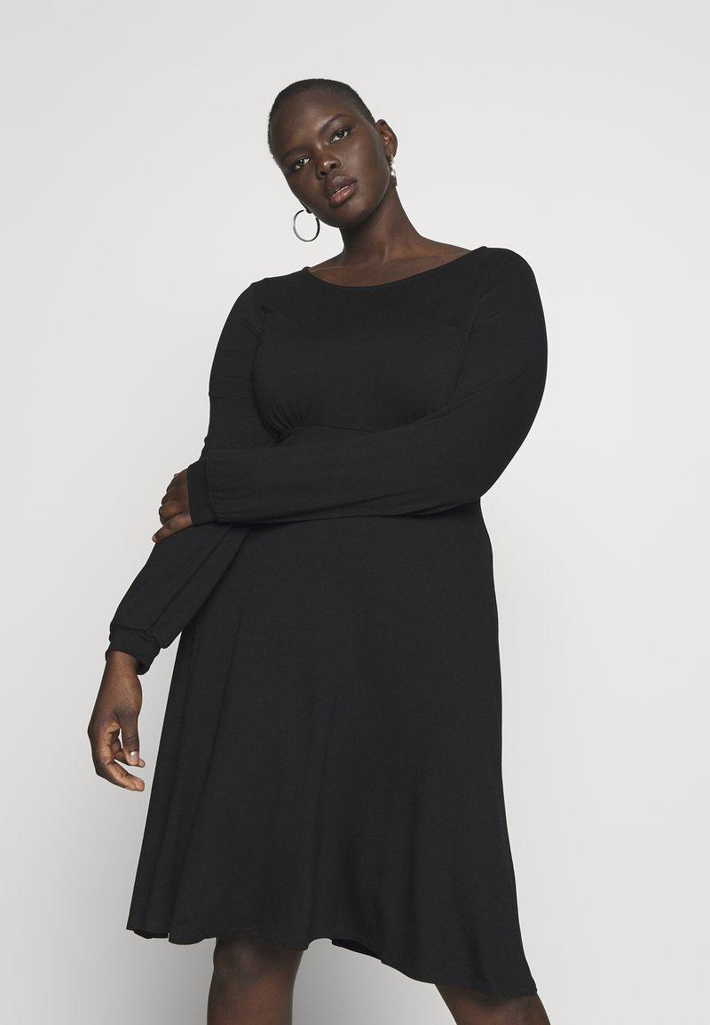 Dorothy Perkins Curve - EMPIRE DRESS - Jerseykjole - black