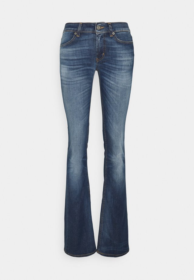 LOLA - Flared Jeans - tobacco thread
