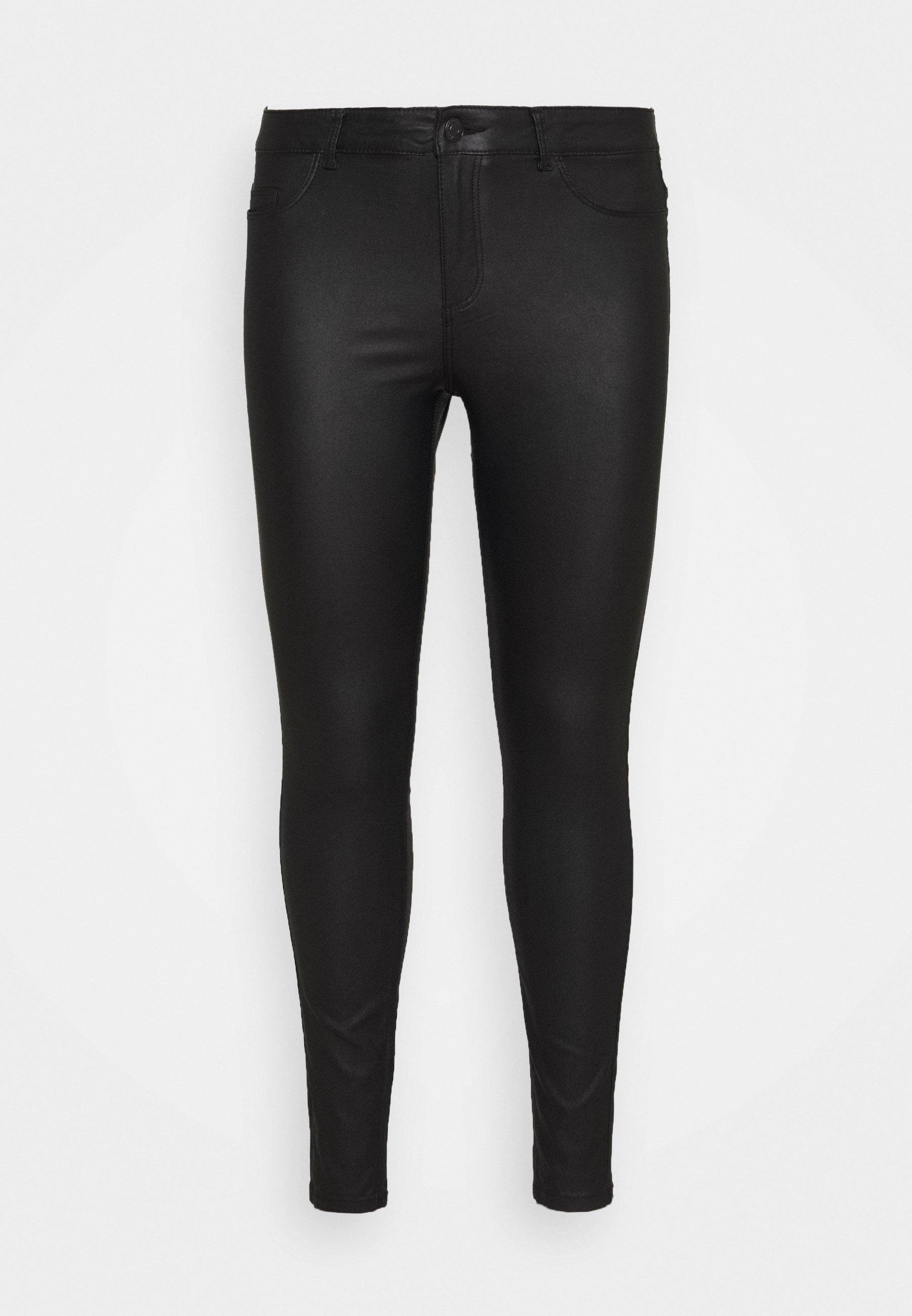 Femme NMCALLIE COATED PANTS - Pantalon classique