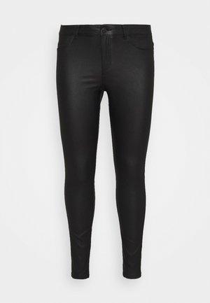 NMCALLIE COATED PANTS - Tygbyxor - black