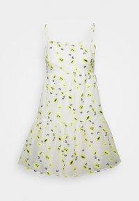 Never Fully Dressed Petite - FLOWER MINI DRESS - Korte jurk - white - 0