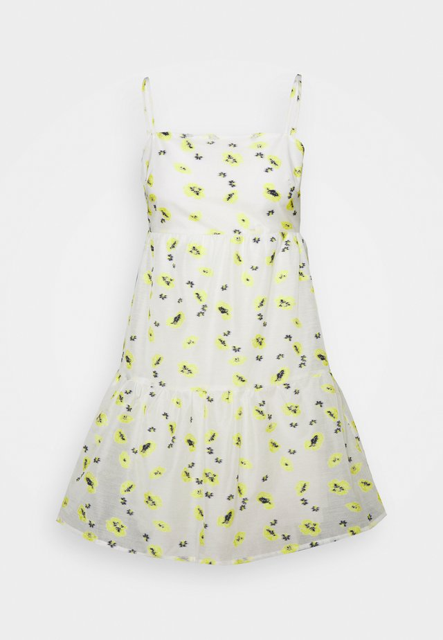 FLOWER MINI DRESS - Korte jurk - white