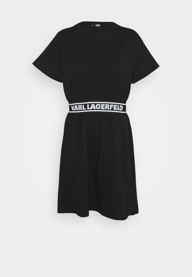 LOGO TAPE DRESS - Jerseykjole - black