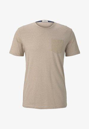 MIT BRUSTTASCHE - T-shirt con stampa - sandy mocktwist stripe