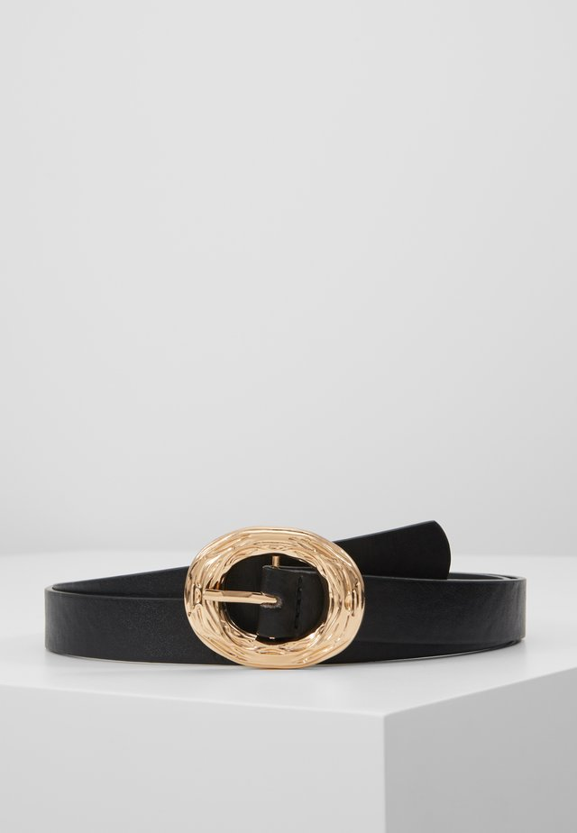 ABSTRACT CRINKLE BUCKLE TROPICAL TIGER BELT - Riem - black