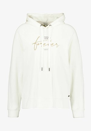 WITH TEXT PRINT - Sweat à capuche - off white