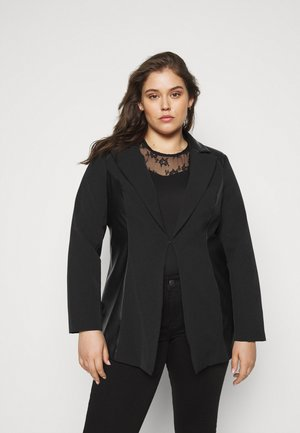 PU BLAZER - Manteau court - black