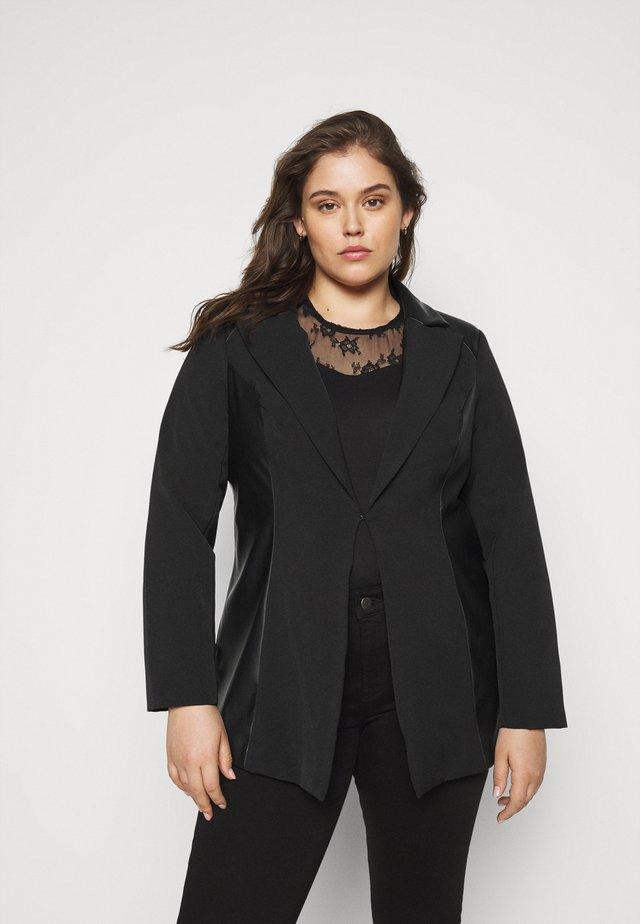 PU BLAZER - Short coat - black