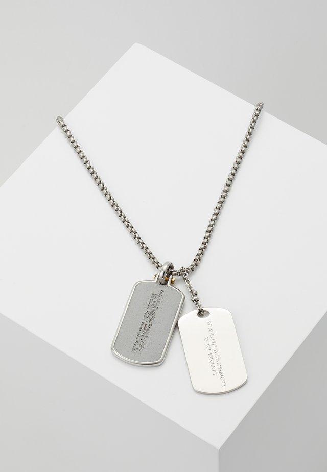 DOUBLE DOGTAGS - Náhrdelník - silver-coloured