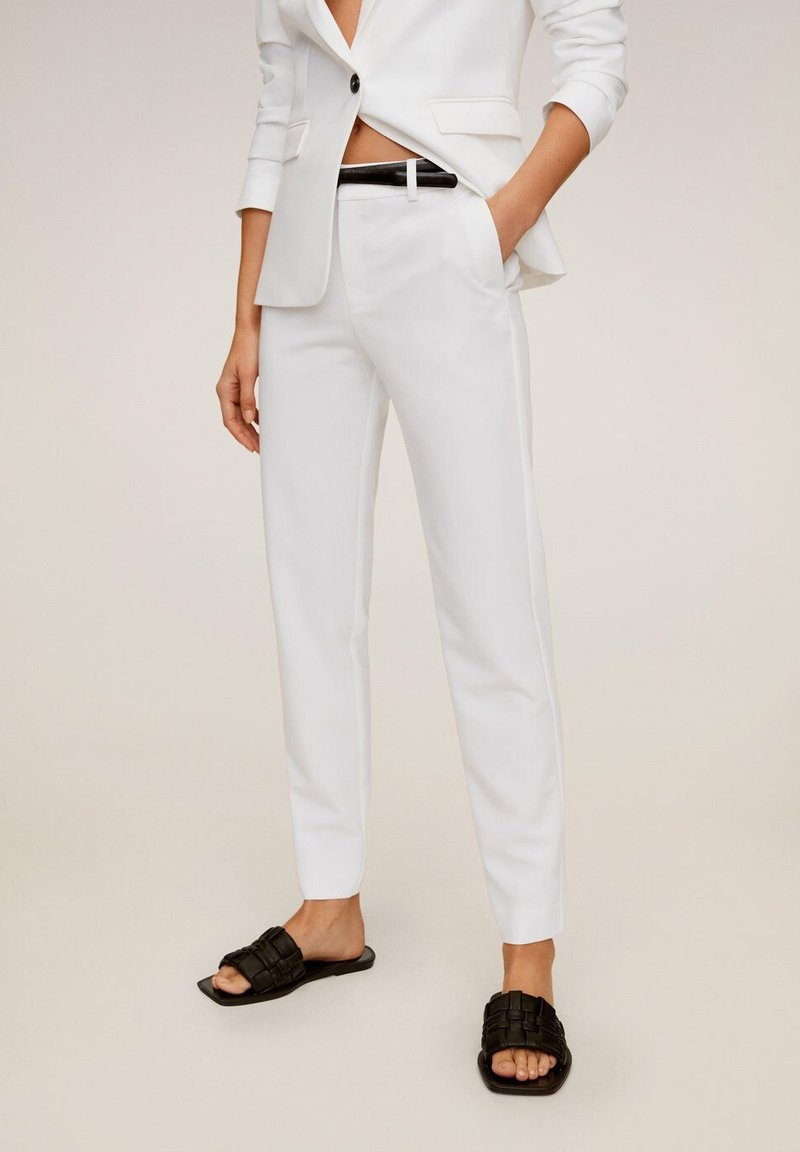Mango - BOREAL6 - Suit trousers - weiß