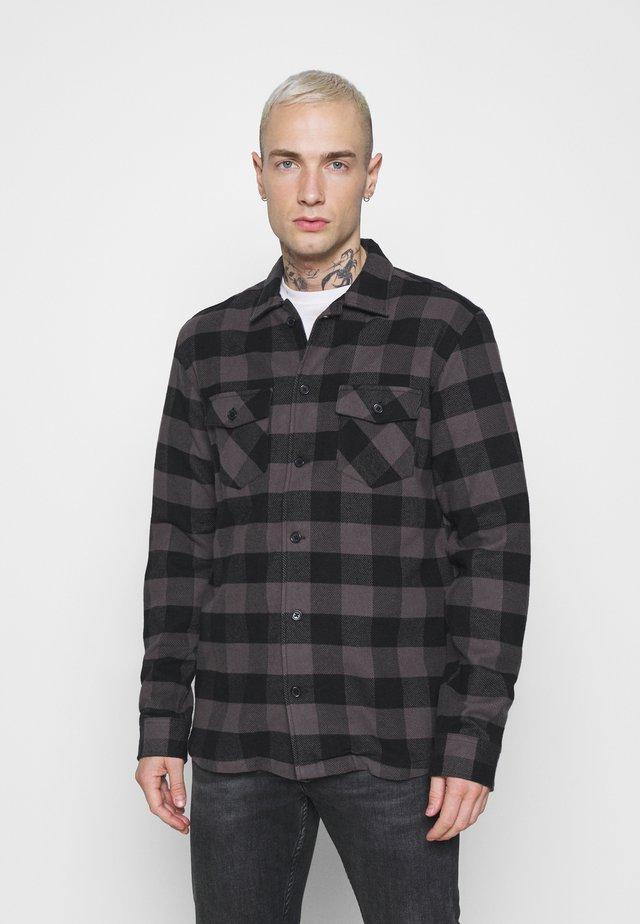 JERRY  - Shirt - black check