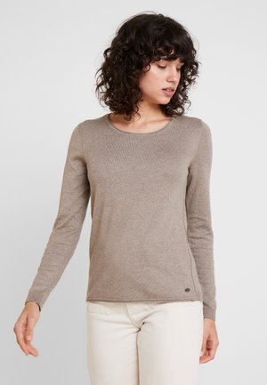 BASIC NECK - Jumper - taupe