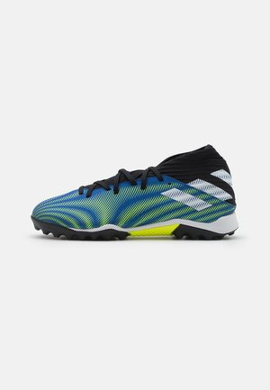 NEMEZIZ .3 TF - Astro turf trainers - royal blue/footwear white/solar yellow