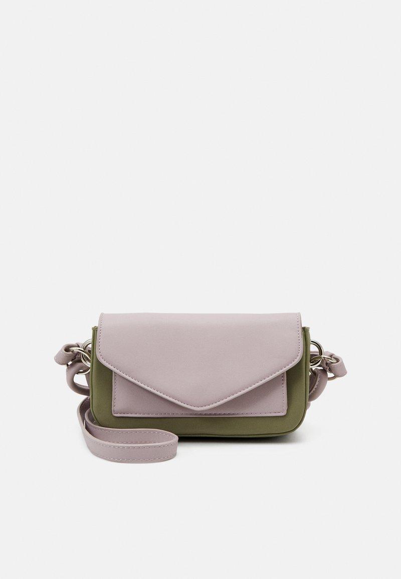 Pieces - PCPUPLIA CROSS BODY - Across body bag - bridal rose/green/silver-coloured
