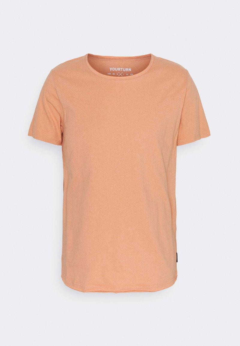 YOURTURN - RAW EDGE UNISEX - Basic T-shirt - brown