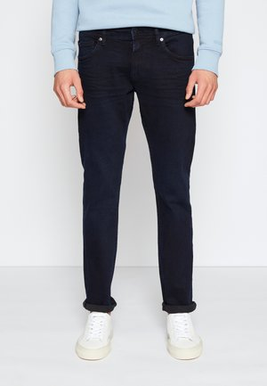 PIERS - Jean slim - blue/black denim