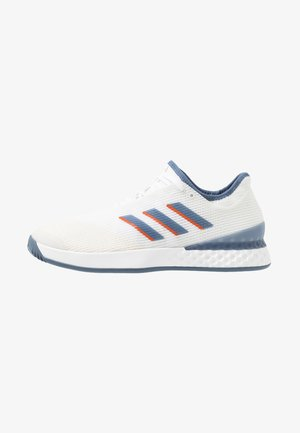 ADIZERO UBERSONIC 3 - Tennissko til grusbane - footwear white/tech ink/light solid grey