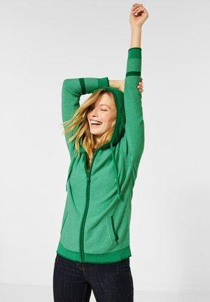MIT KAPUZE - Zip-up hoodie - grün