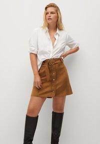 Violeta by Mango - SEVEN - A-line skirt - schokolade - 0