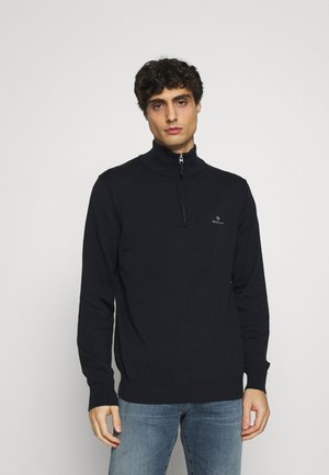 CLASSIC HALF ZIP - Stickad tröja - evening blue