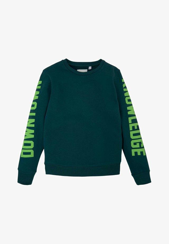 MIT SCHRIFTPRINT - Sweater - deep teal